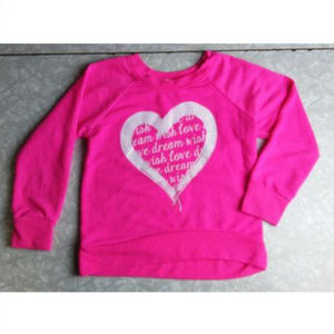 Neon Pink Heart + Dream + Wish Sweatshirt